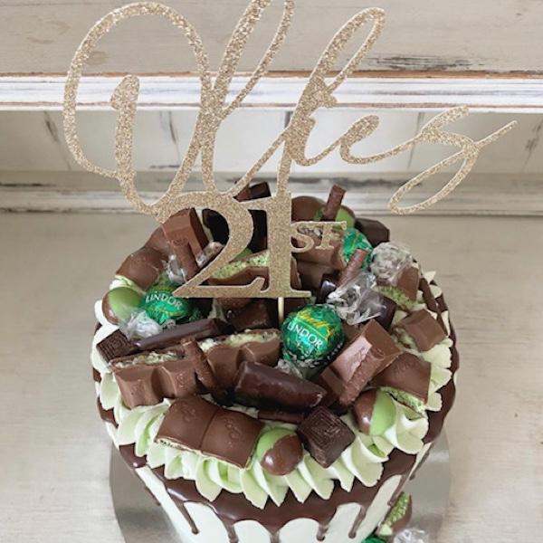 Image of Mint Chocolate Drip Cake