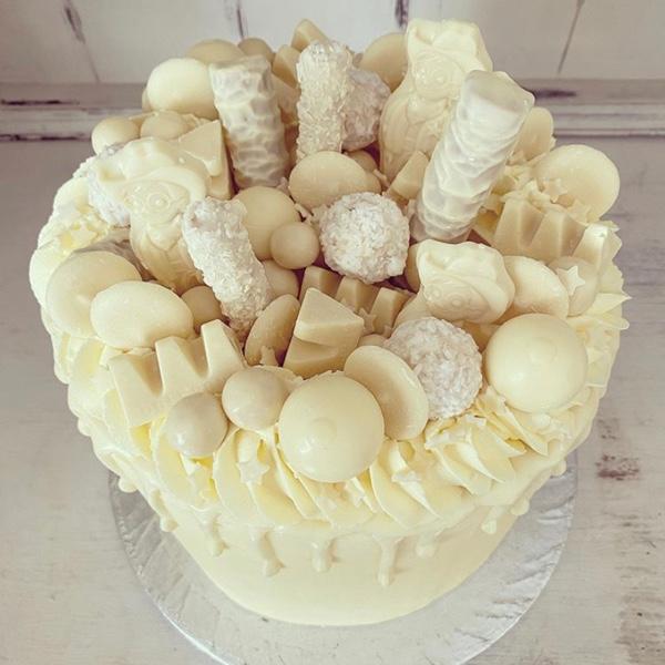 Image of White Chocolate Drip Cake
