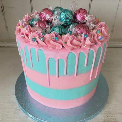 Image of Stripy Drip Cake