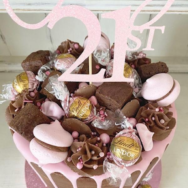 Image of Strawberry Chocolate Drip Cake