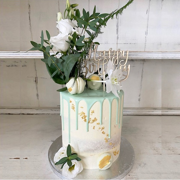 Image of Floral Drip Cake