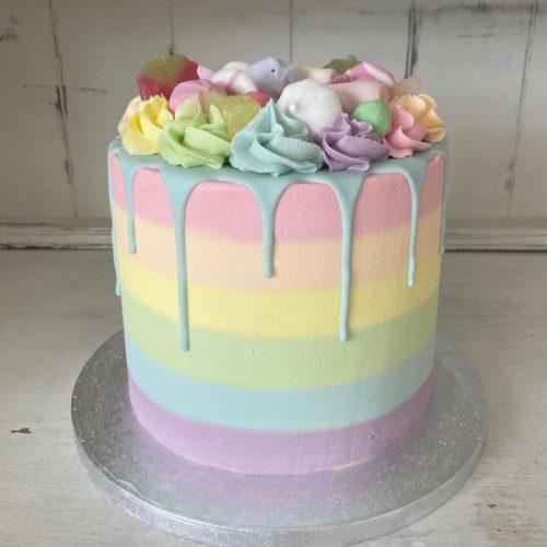 Image of Pastel Rainbow Cake