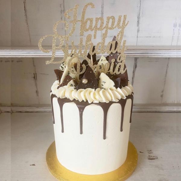 Image of Chocolate Shard Drip Cake